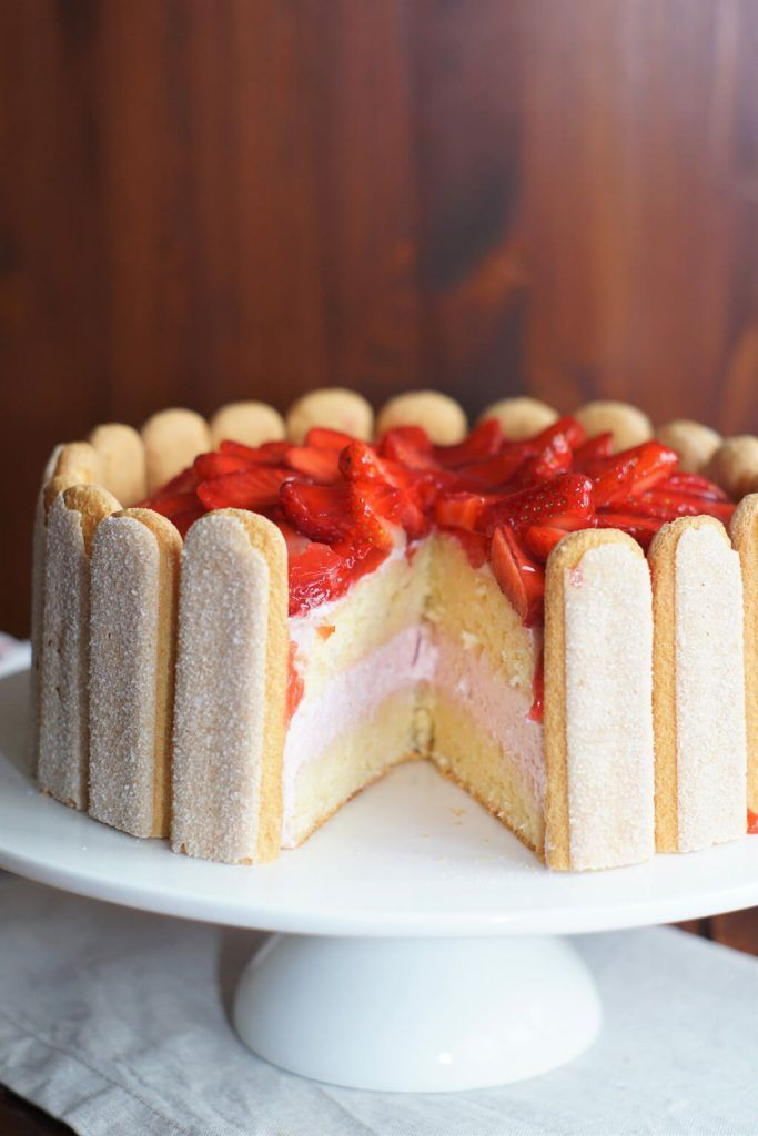 Erdbeer-Joghurt Torte / Muttertagstorte / Blog-Geburtstag