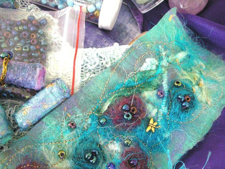 Kuvahaun tulos haulle needle felting painting with fiber bead