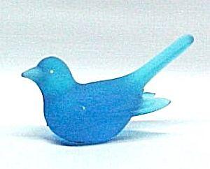 Westmoreland Blue Mist Bird Glass Figurine