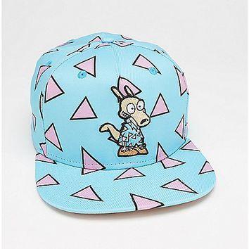 Geometric Pattern Rocko's Modern Life Snapback Hat - Spencer's