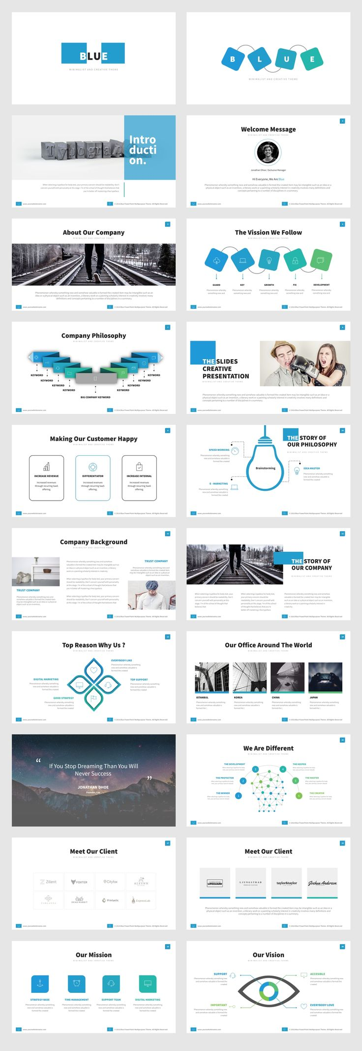 9 best best annual report powerpoint templates images on pinterest blue powerpoint template toneelgroepblik Image collections
