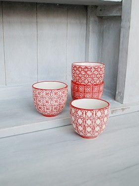 Set de 4 tasses expresso 'léonie'.