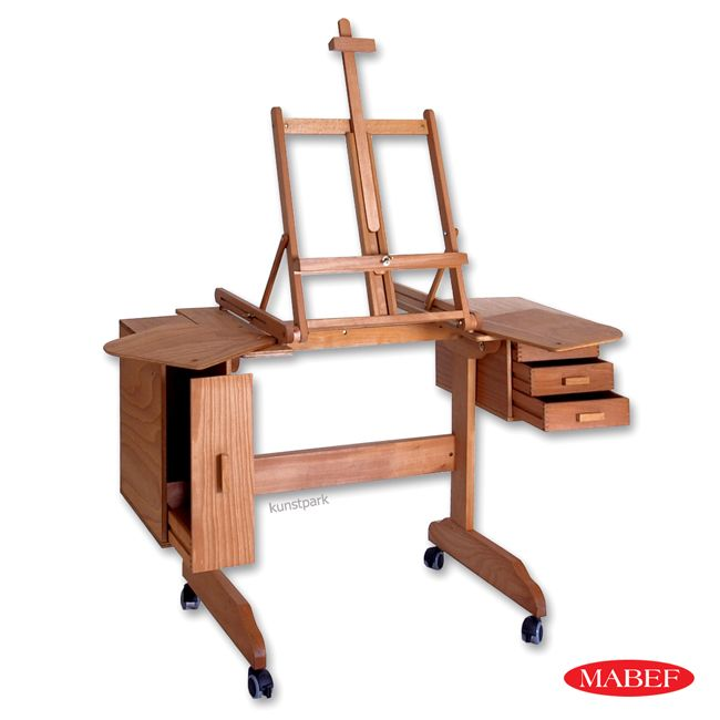Artist S Easel Desk With Storage On Casters My Husband Could Make This Maybe The Removable
