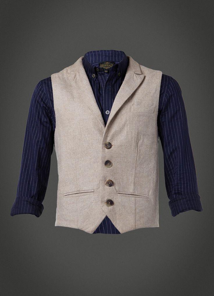 Cotton Tweed & Lambskin Waistcoat