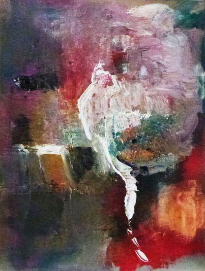 DEZE WEEK Speciale prijs 195 euro !!! Volgende week gaat een vriend naar Holland Amsterdam die kan het schilderij meenemen. Emile Snellen Van Vollenhoven -  Dimana Abstract painting 40 x 30 cm with oilpaint  40 x 30, © 2013, € 395,00