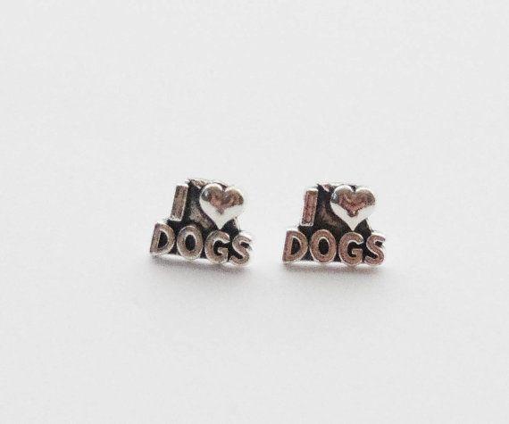 Dog Lover Earrings I Heart Dogs
