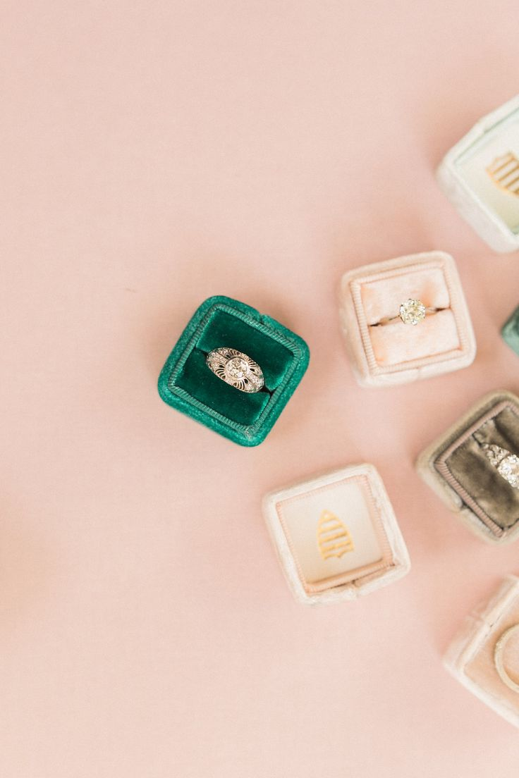 Valerie Art Deco Engagement Ringseuropean