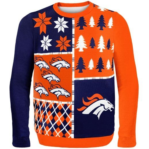 Denver Broncos Busy Block Ugly Sweater