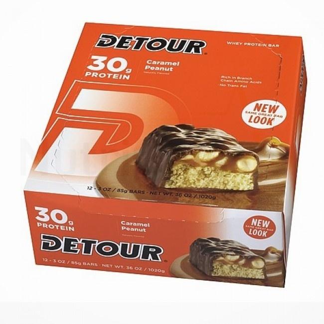 Detour Protein Bar, Whey Protein Caramel Peanut - 12ea
