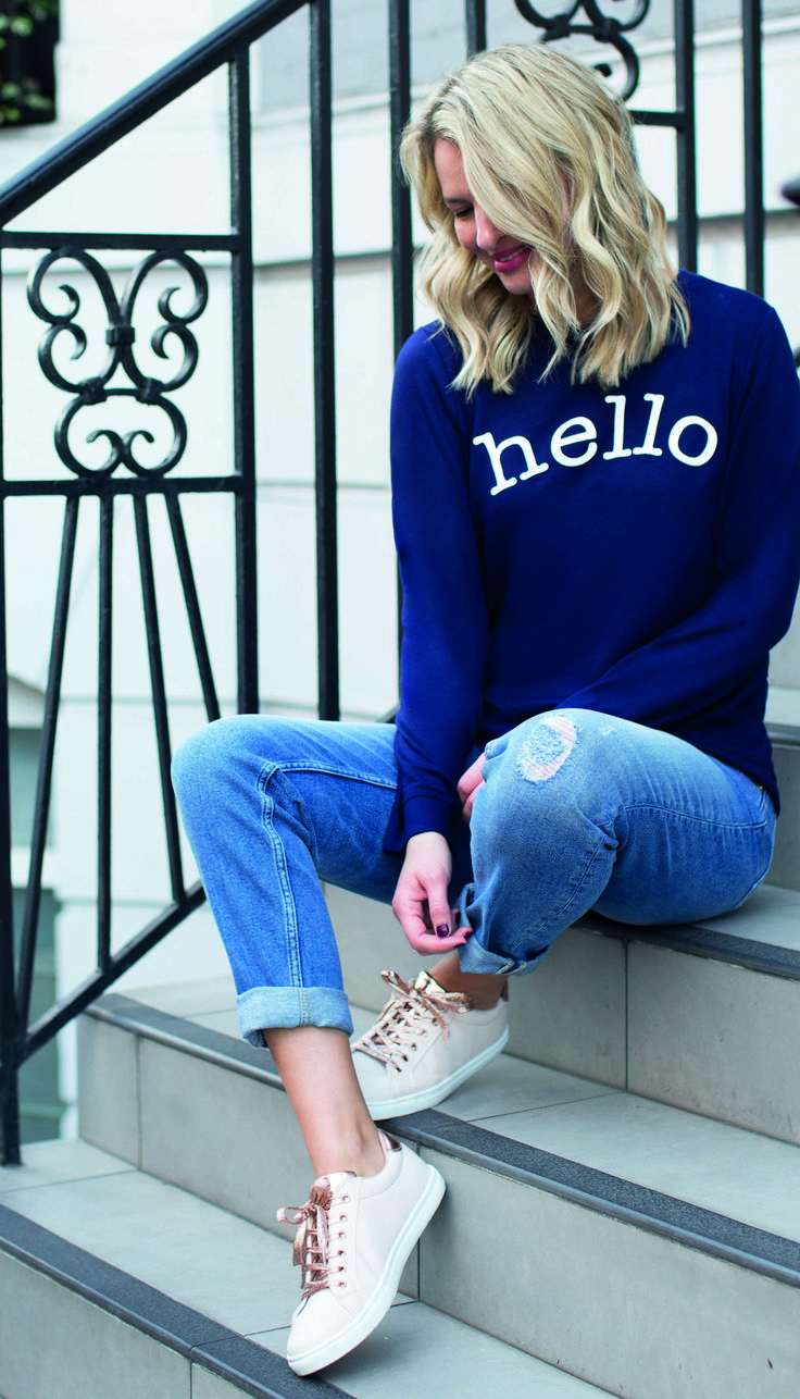 Introducing Have-to-Haves; from slogan sweats to romantic ruffles, these fashion staples are set to take your wardrobe by storm... Click the image to shop the Hello Sweat. #havetohaves #oasisfashion
