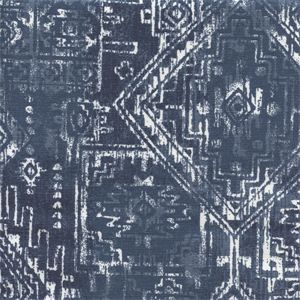 Sioux Premier Navy Cotton Southwestern Drapery Fabric by Premier Prints