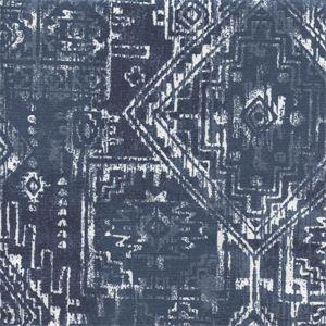 Sioux Premier Navy Cotton Southwestern Drapery Fabric by Premier Prints