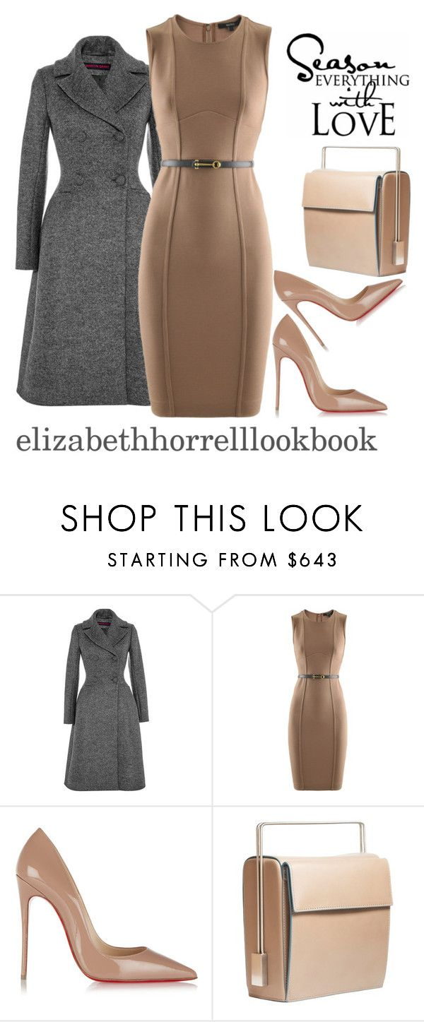 """LIZ"" by elizabethhorrell ❤ liked on Polyvore featuring Martin Grant, Gucci, Christian Louboutin and Lautēm"