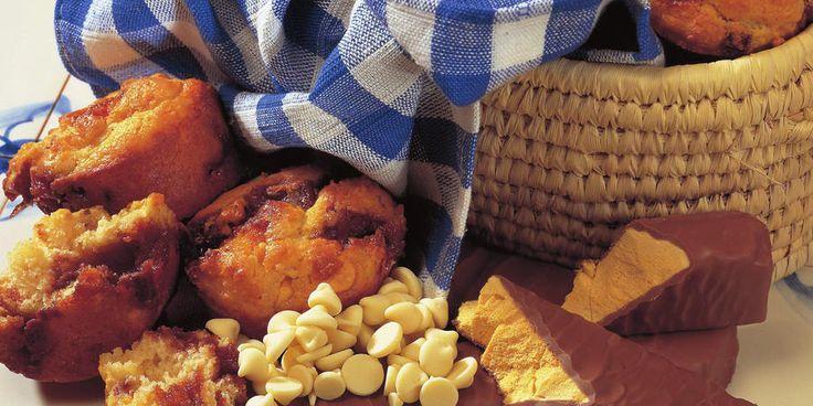Recipe for Choc honeycomb muffins