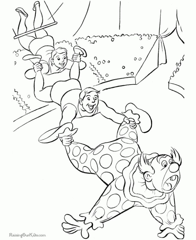 free downloadable circus coloring pages - photo#9