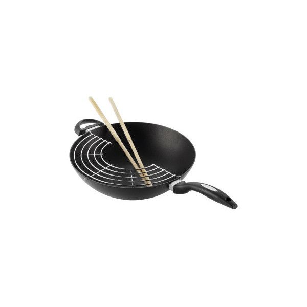 Scanpan Evolution 32cm Wok (349 AUD) ❤ liked on Polyvore featuring home, kitchen & dining, cookware, 6307-101082, dishwasher safe cookware, nonstick dishwasher safe cookware, oriental wok, pfoa free cookware and asian cookware
