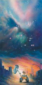 Wall-E - The Depth of Space and Love - John Rowe - World-Wide-Art.com - $195.00 #Disney #JohnRowe