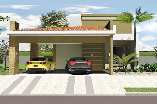 Planta De Casa T Rrea Com Garagem Ampla Projetos De