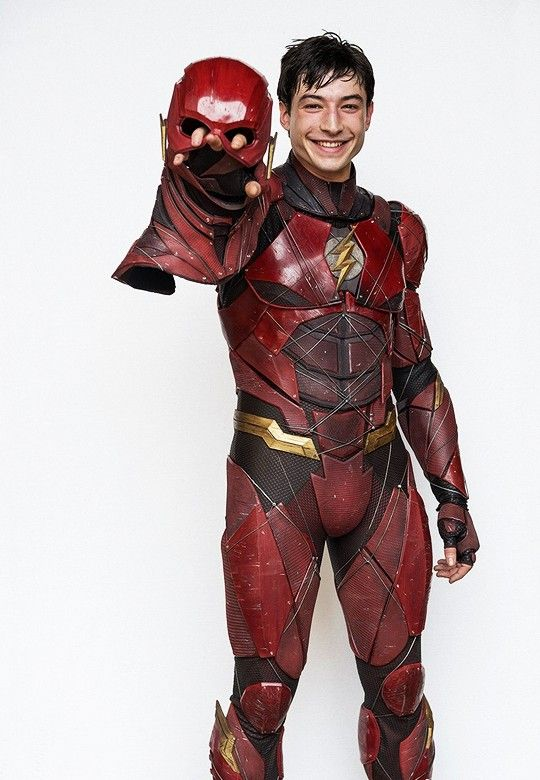 Ezra   Behind the Scenes of Justice League  Photo probably