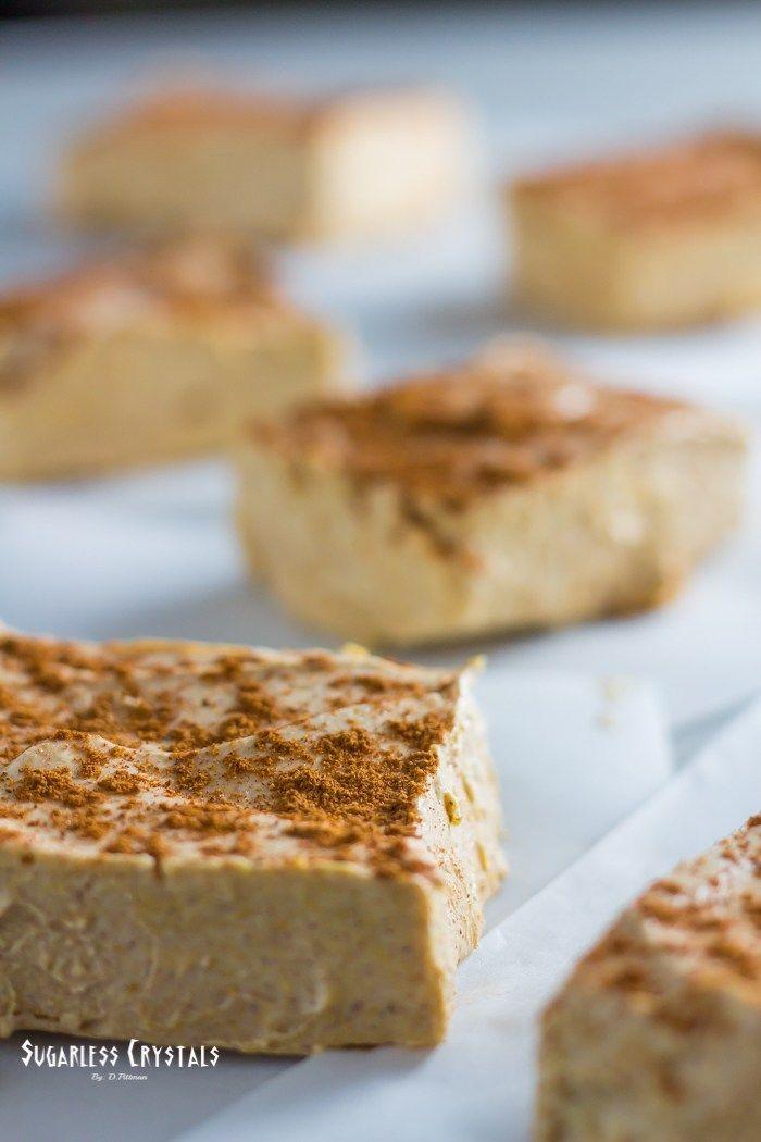 No Bake Pumpkin Keto Cheesecake Bars Low Carb Sugar Free Gluten
