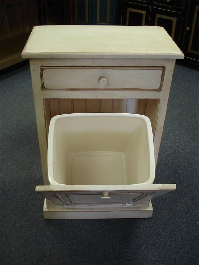 Amish pine tilt out trash bin cabinet with drawer trash bins cabinets and fold clothes - Amish tilt out trash bin ...