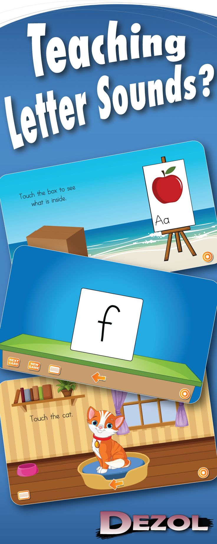Dezol has games to learn the the alphabet, letter sounds, sight words, and many other skills essential to reading. You can use Dezol on your student workstations or your interactive whiteboard (SMART Board).  With almost a hundred free games to choose from, you are sure to find just what your students need. Are you ready to join the thousands of teachers already using Dezol?