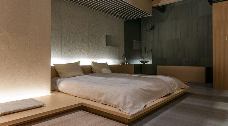 Suíte com conceito aberto no Hotel Ginzan Onsen Fujiya