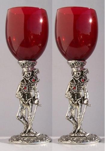 Pirate Wedding Toasting Glasses Set (2 Glasses)