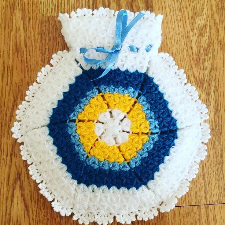 Nazar boncuğu lif modeli #lif #knitting #ceyiz #örgü #elisi #hobi