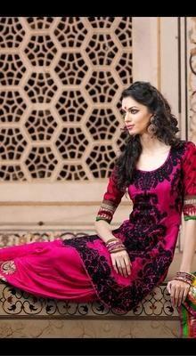 Fancy Deep Pink Salwar Kameez