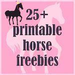 Free printable party horse kit - ausdruckbare Pferde Geschenkpapiere - freebie | MeinLilaPark – DIY printables and downloads