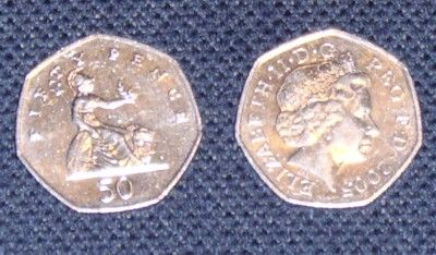 UK Currency Photographs: Fifty Pence Coin