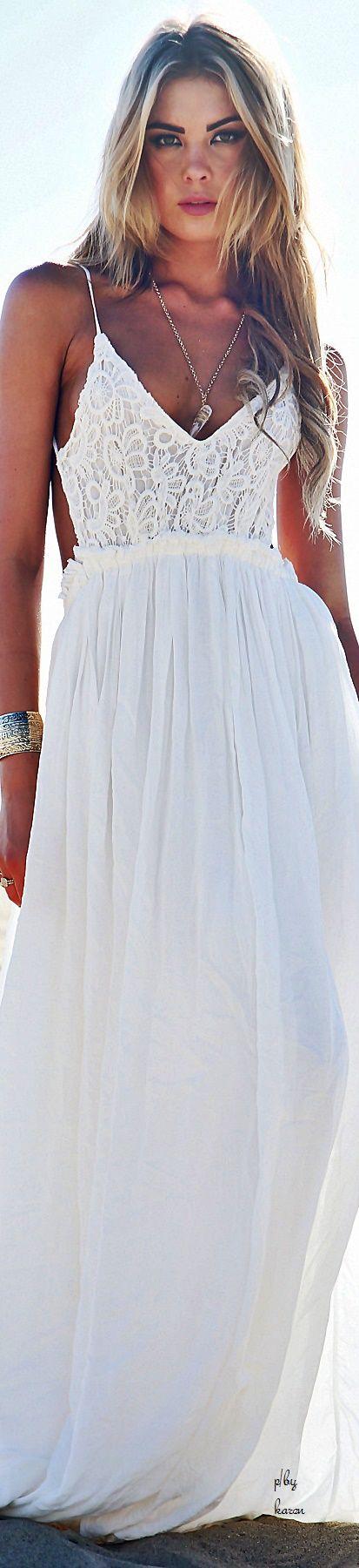 Camilla Open Back Crochet Maxi Dress - White                                                                                                                                                                                 More