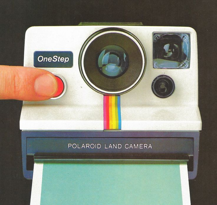 Poleroid one step instant photos 1970's. We didn't have digital, but we still had instant photography (after a few shakes of the wrist, of course).