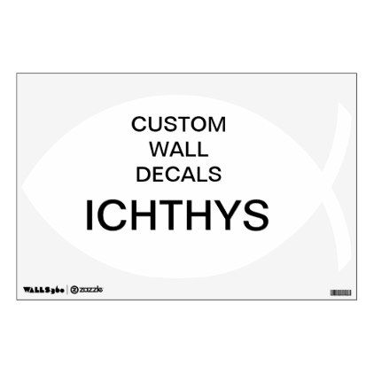 "Custom Personalized 12""x12"" ICHTHYS Decal - create your own gifts personalize cyo custom"