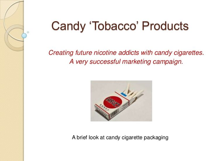 Candy Cigarettes - A Brief Look Back at the Tobacco Industry and Kids