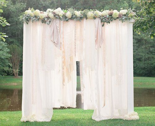Breathtaking Bohemian Outdoor Wedding Altar | AllFreeDIYWeddings.com