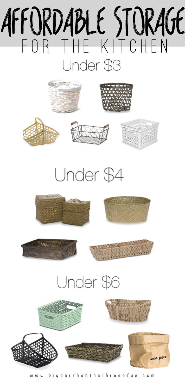 Affordable kitchen storage round-up