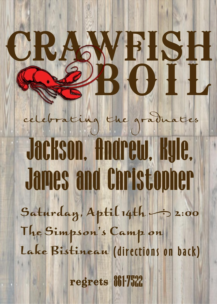 crawfish boil invitation by Mint Julep Paperie