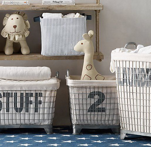 Industrial Hamper & Liner - great for storage in the nursery
