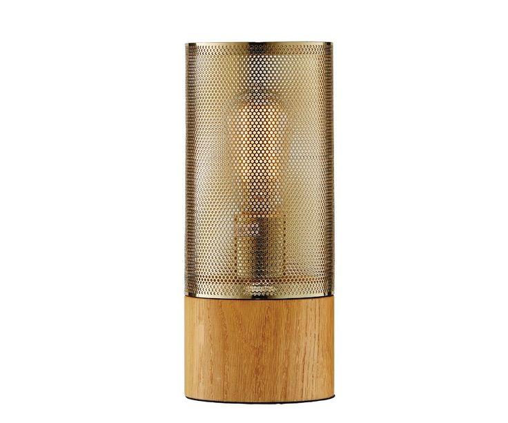 Stoic 1 Light Table lamp in Oak/Mesh   Table Lamps   Lamps   Lighting