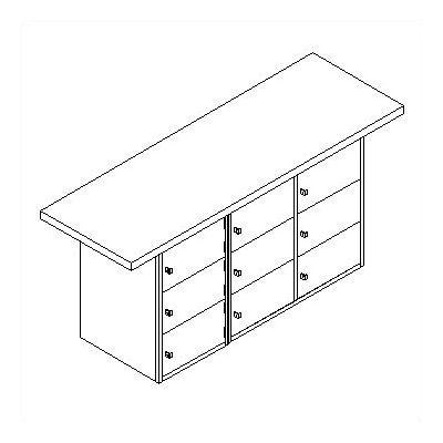 Horizontal Locker Unit Wood Top Workbench