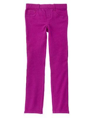 Girls Purple Violet Skinny Pants by Gymboree