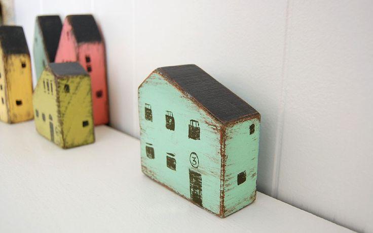 Wood house handpainted secret money place Light by OldNewAgain. $36.00, via Etsy.