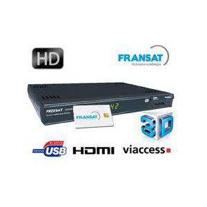 SERVIMAT TSF 8500 HD PVR Fransat avec carte Viaccess Fransat à vie + Cordon HDMI offert