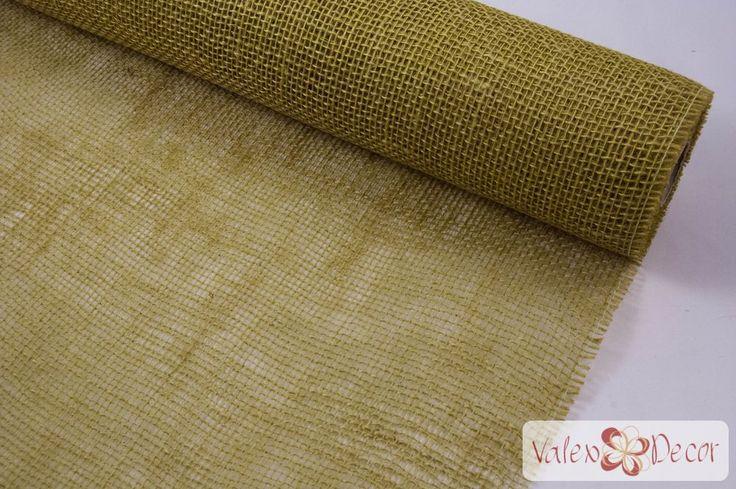 Juta tekercs - Tea Zöld - Valex Decor Kft. | Virágkötészeti kellékek és…