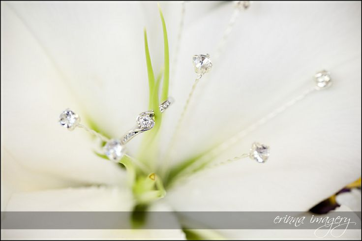 Rhinestone stamen replacements for Lily