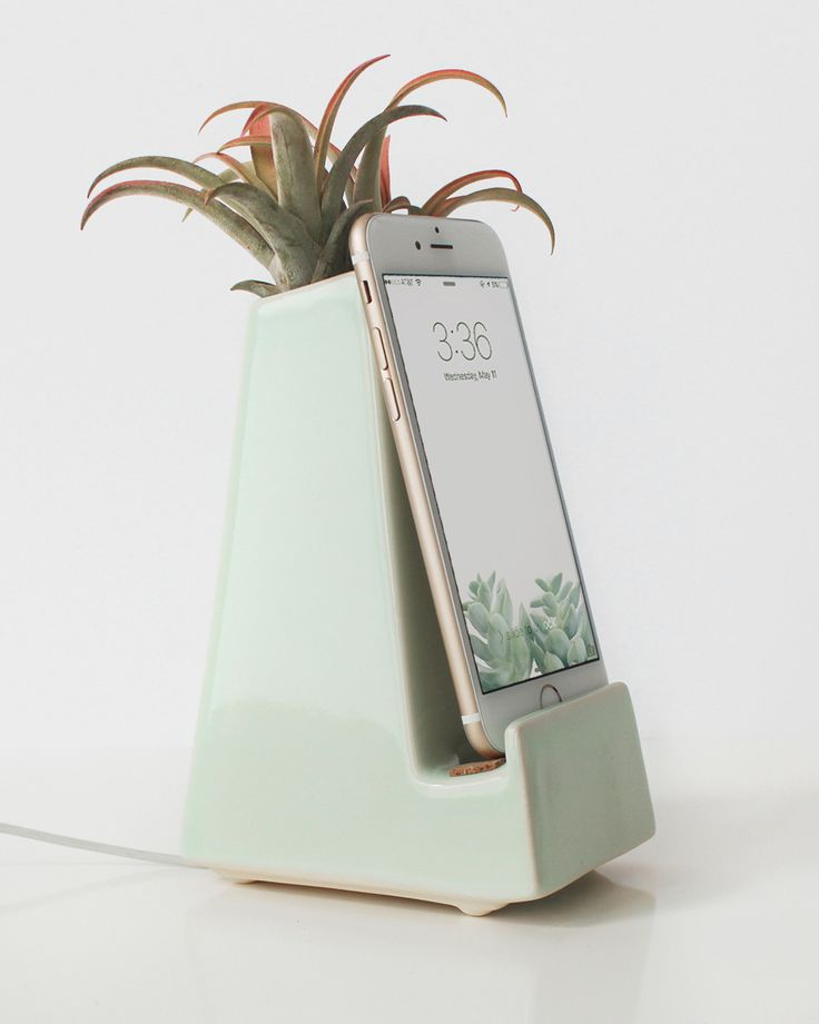 A stylish, modern phone dock