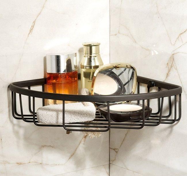 Tier glass shelf shower holder bathroom accessories corner shelves - 17 Best Ideas About Shower Shelves On Pinterest Subway