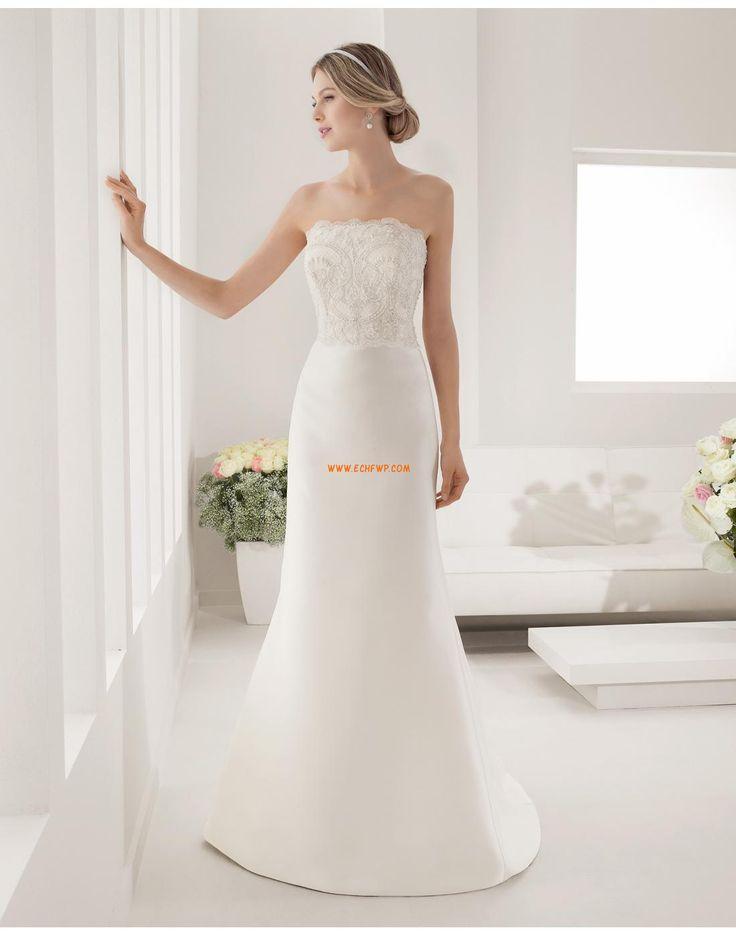 Sjöjungfru Brudklänningar med Bolero Axelbandslös Bröllopsklänningar 2015